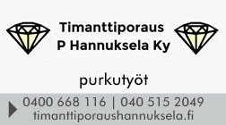 Timanttiporaus P Hannuksela Ky logo